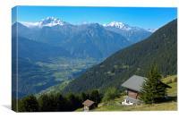 Riederalp Swiss Alps Switzerland, Canvas Print
