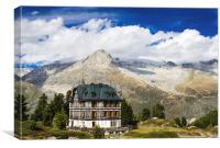 Villa Cassel Swiss Alps Switzerland, Canvas Print