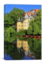 Hoelderlin tower Tuebingen Germany, Canvas Print
