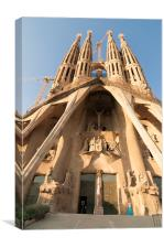 Sagrada Familia Antoni Gaudi Barcelona, Canvas Print