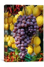 Grapes and lemons, Canvas Print