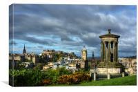 Edinburgh from Calton Hill, Canvas Print