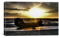 Ch47 Aircraft Chinook Helicopter Kandahar, Canvas Print