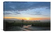 Cheshire Plain, Canvas Print