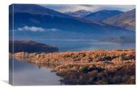 Loch Lomond in Winter, Canvas Print