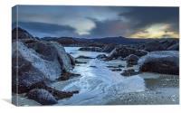 Winter beach, Canvas Print