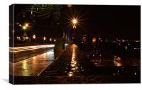 Wet Light Trails, Canvas Print