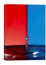 Water Droplet Red/Blue, Canvas Print