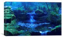 Enchanted Waterfall, Canvas Print