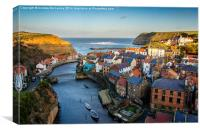 Staithes , Canvas Print