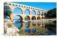 Pont du Gard, aqueduct, Languedoc, France, Canvas Print