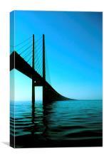 Øresundsbron, Copenhagen, Denmark, Malmö, Sweden, Canvas Print