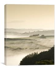 Morning Mist from Winsford Hill, Canvas Print
