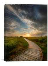Greylake Sunset, Canvas Print