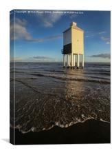 The Old Lighthouse at Berrow, Canvas Print