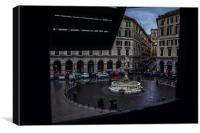 Piazza Colombo, Genoa, Canvas Print