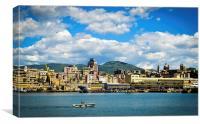 Genova Porto, centro, Canvas Print