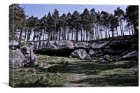 St Cuthberts Cave, Northumberland, Canvas Print