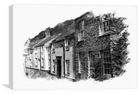 Boscastle Cottages, Cornwall, Canvas Print