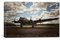 Lancaster Bomber Just Jane, Canvas Print