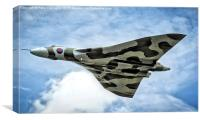 High In The Sky Vulcan XH558, Canvas Print