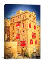 All Red Town House, Canvas Print