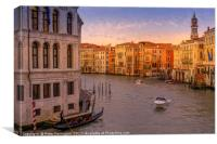 Sunset in Venice, Canvas Print