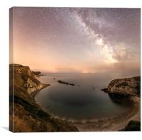 The Milky way over Man O War cove , Canvas Print