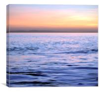 Tranquil calm water at sunset , Canvas Print