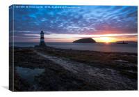 Penmon lighthouse , Canvas Print