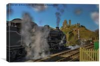 Corfe railway , Canvas Print