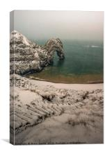 Durdle Door blizzard morning , Canvas Print
