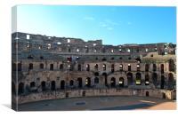 Colosseum of El Djem., Canvas Print