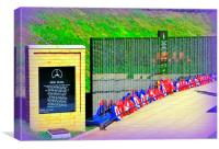 The Wall of the Fallen., Canvas Print
