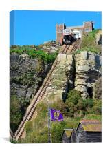 Cliff tram., Canvas Print
