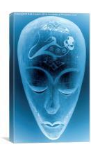 Blue alien., Canvas Print