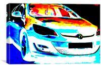The cars the star., Canvas Print