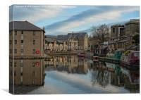 lancaster canal basin colour, Canvas Print