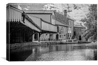 inn on the wharf,burnley b&w, Canvas Print