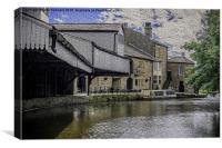 inn on the wharf,burnley  , Canvas Print