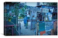 """bomba"" beach bar tortola, Canvas Print"