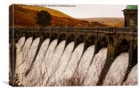 Elan Valley Waterfall, Canvas Print