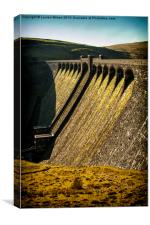 Elan Valley Dam, Canvas Print
