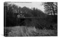 Bridge and House, Canvas Print