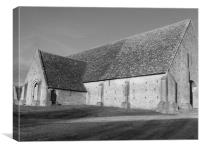 Great Coxwell Barn, Canvas Print