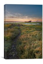Motney Hill during sunset, Canvas Print