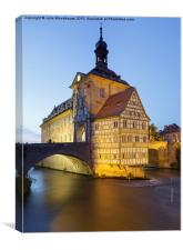 Old Town Hall and the Obere Bridge in Bamberg, Canvas Print