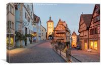 Rothenburg ob der Tauber, Canvas Print