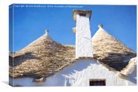 Alberobello trullo, Canvas Print