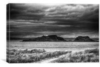 Fidra Island Lighthouse, Canvas Print